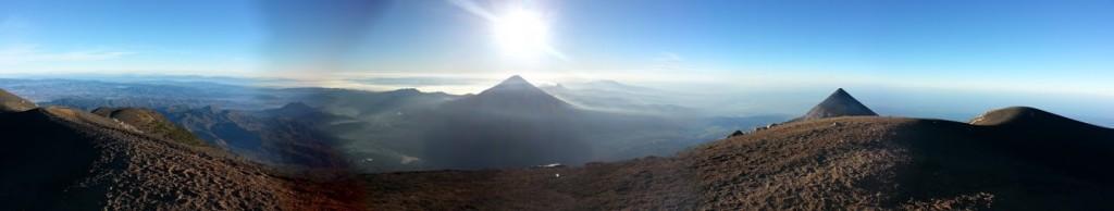vue sur le volcan agua, acatenango