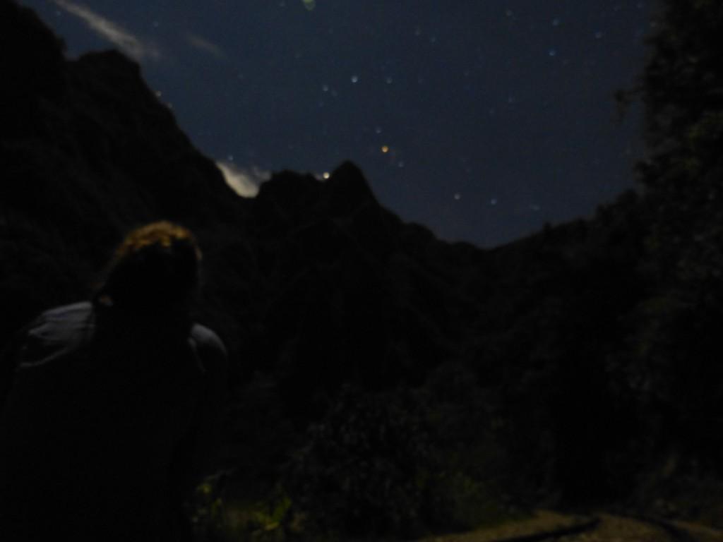 contemplation de nuit du machu picchu (sans le savoir)