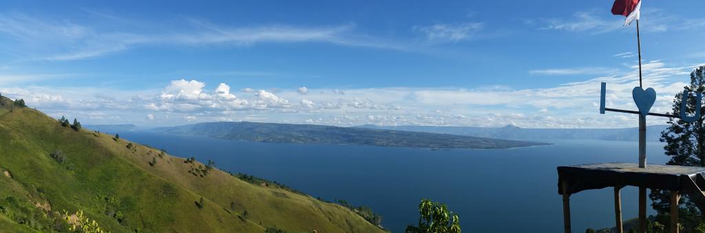 vue sur le lac Toba